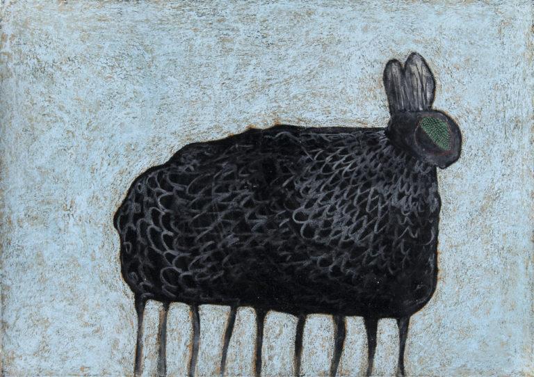 Hase, Tusche und Pastell auf Papier, 42x59,4cm, 2016