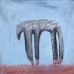 Wolf, Gouache und Pastell auf Papier, 42x42cm, 2016