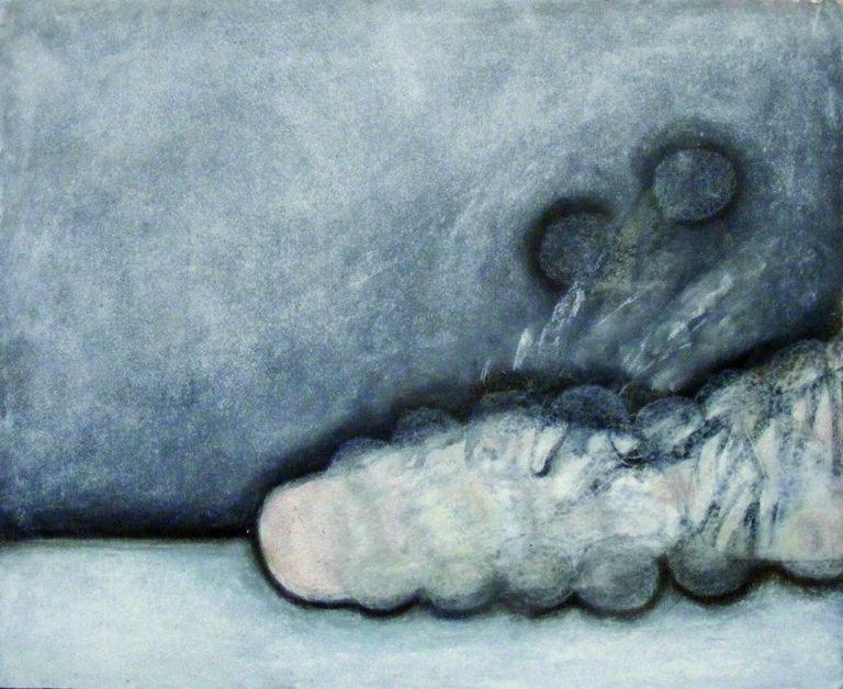 o.T., Aquarell und Pastell auf Papier, 38x46cm, 2012