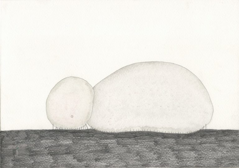 o.T., Graphit und Aquarell auf Papier, 21x29,7cm, 2016 (3)