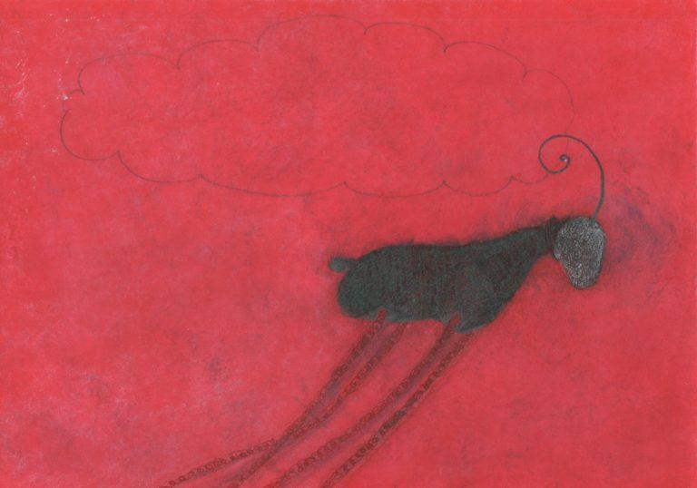 o.T., Mischtechnik auf Papier, 21x29,7cm, 2014