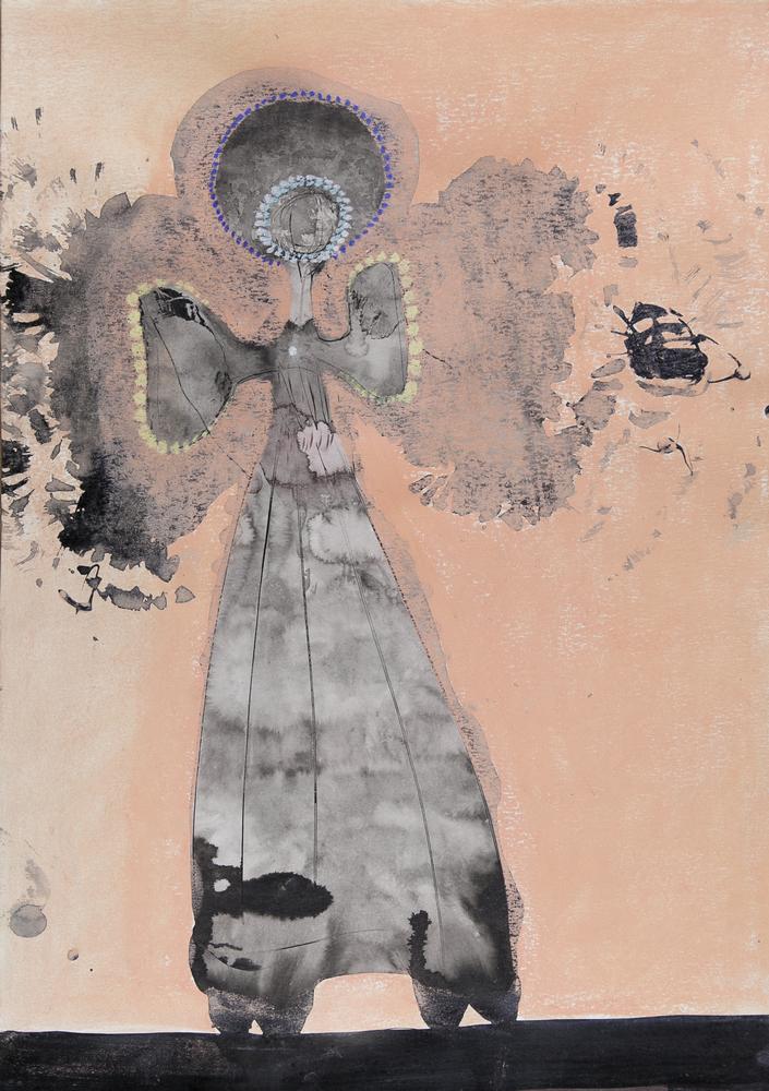 o.T., Tusche und Pastell auf Papier, 59,4x42cm, 2016