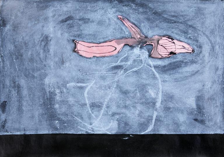 o.T.,Tusche und Pastell auf Papier, 42x59,4cm, 2015