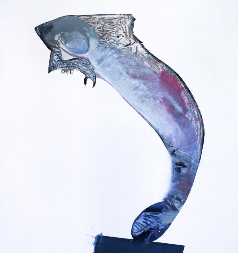 Fisch, Eitempera auf Leinwand, 165x145cm, 2016