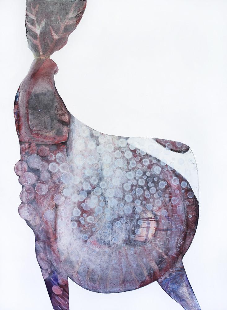 Hirsch, Eitempera auf Leinwand, 250x190cm, 2016