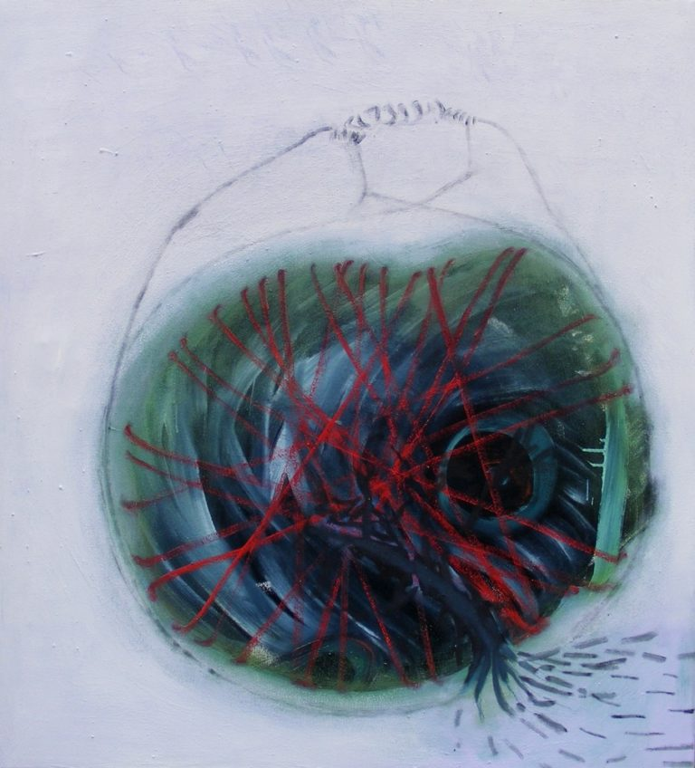 o.T., Eitempera auf Leinwand, 100x90cm, 2008