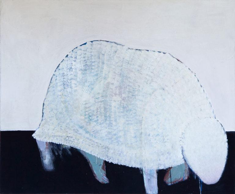 o.T., Eitempera auf Leinwand, 135x140 cm, 2011