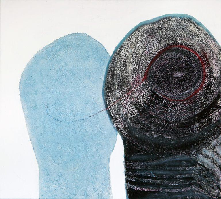 o.T., Eitempera auf Leinwand, 90x100 cm, 2013