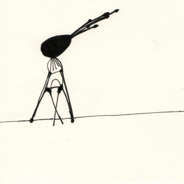 o.T., Tusche, 10x10cm, 2014