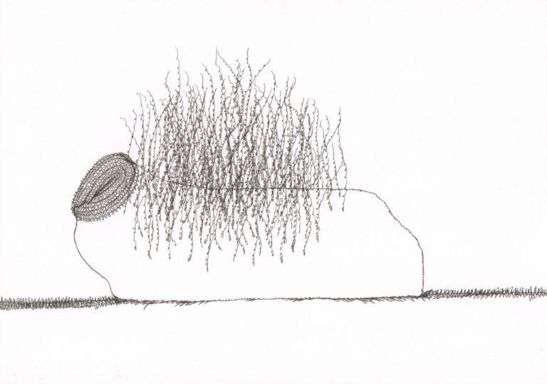 o.T., Tusche auf Papier, 21x29,7cm, 2017