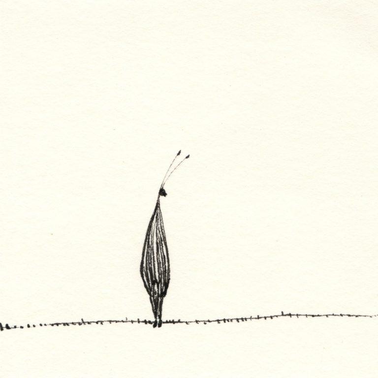 o.T._Tusche auf Papier, 10x10cm, 2014